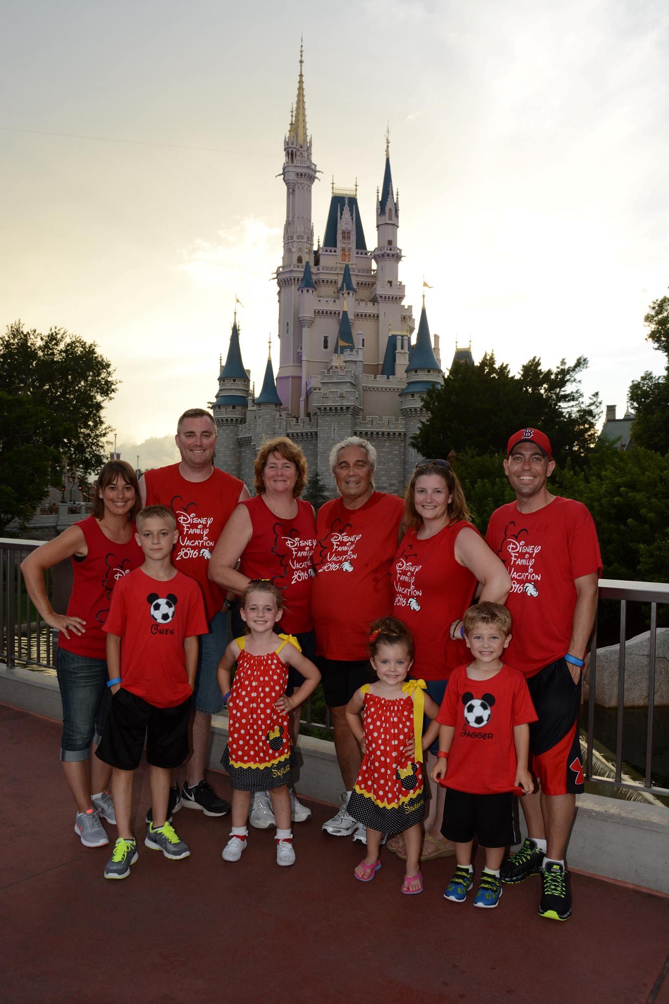 Disney Magic Kingdom Family Photo